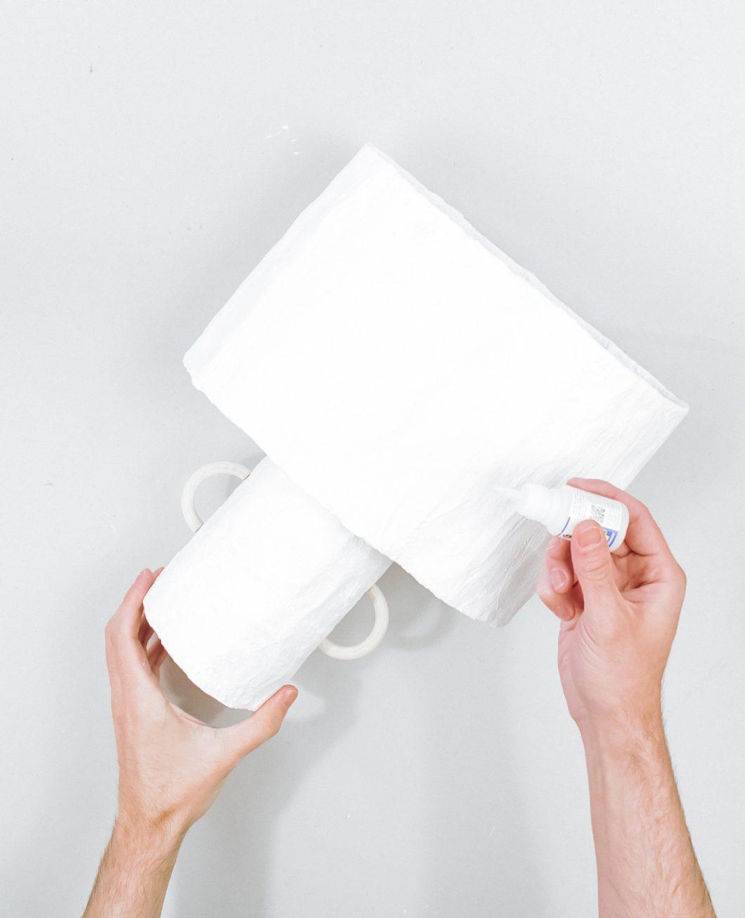 lampe bande de plâtre ikea hack tuto etape 7