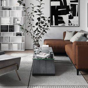 deco salon moderne gris