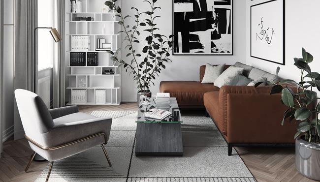 deco moderne gris salon