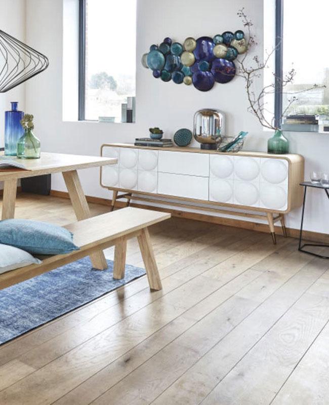 buffet blanc bois salle a manger moderne