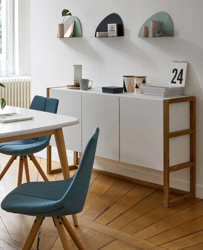 buffet blanc bois moderne