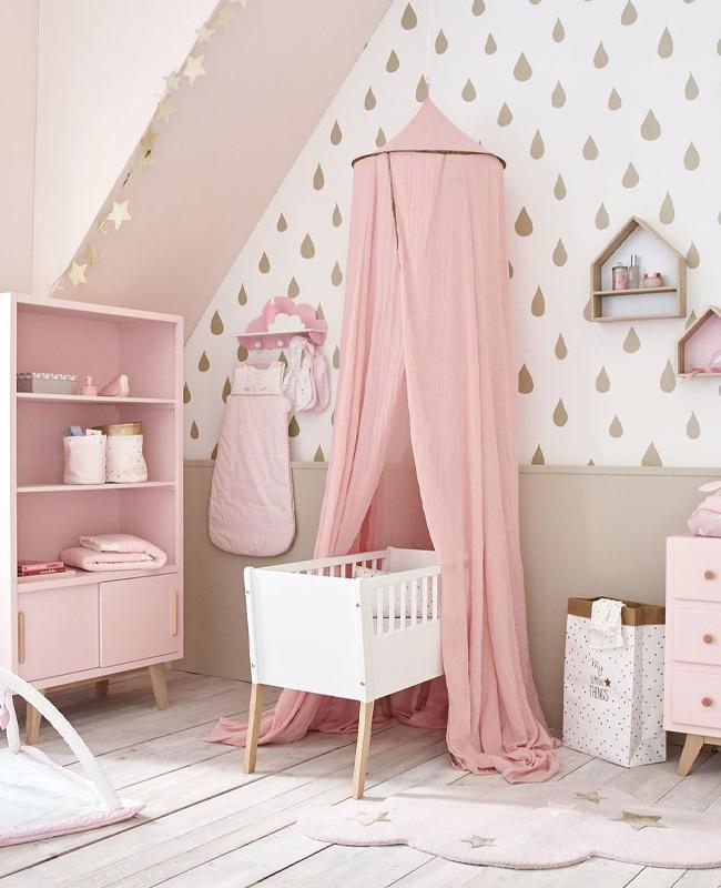 deco chambre bebe rose beige