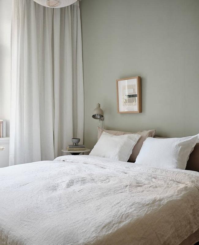 deco chambre vert beige moderne