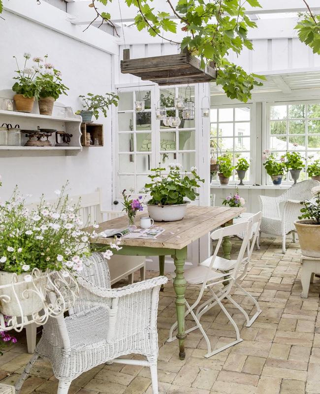 deco terrasse blanc bois campagne chic