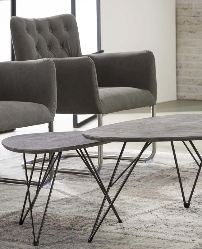 table appoint effet beton