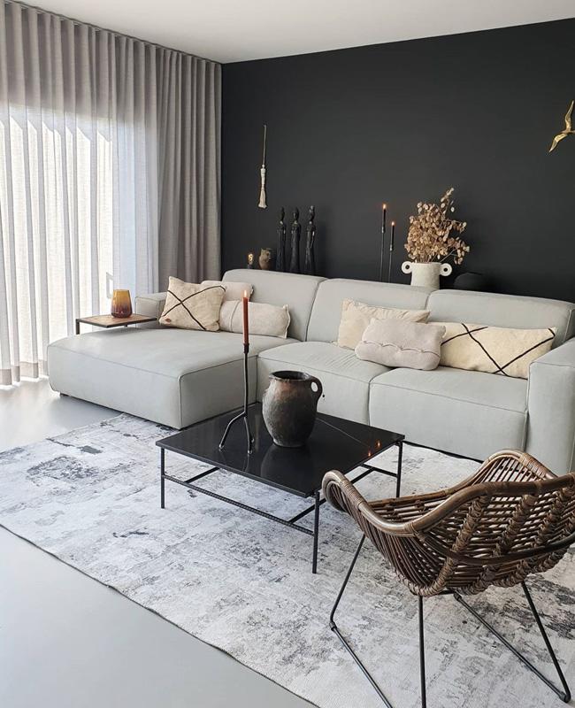 deco salon moderne mur gris anthracite