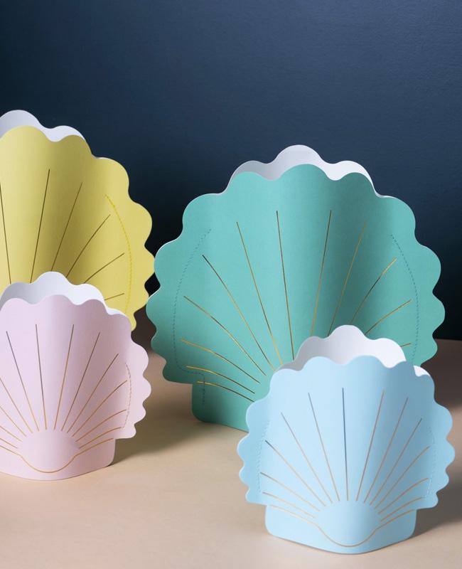 vase coquillage papier