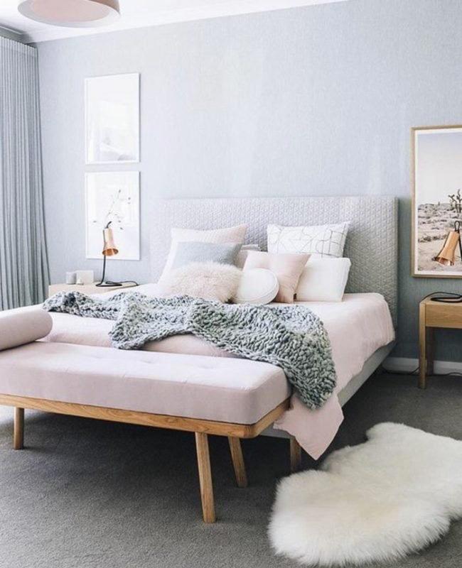 deco chambre rose bleu scandinave