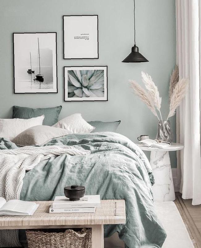 deco chambre vert sauge beige
