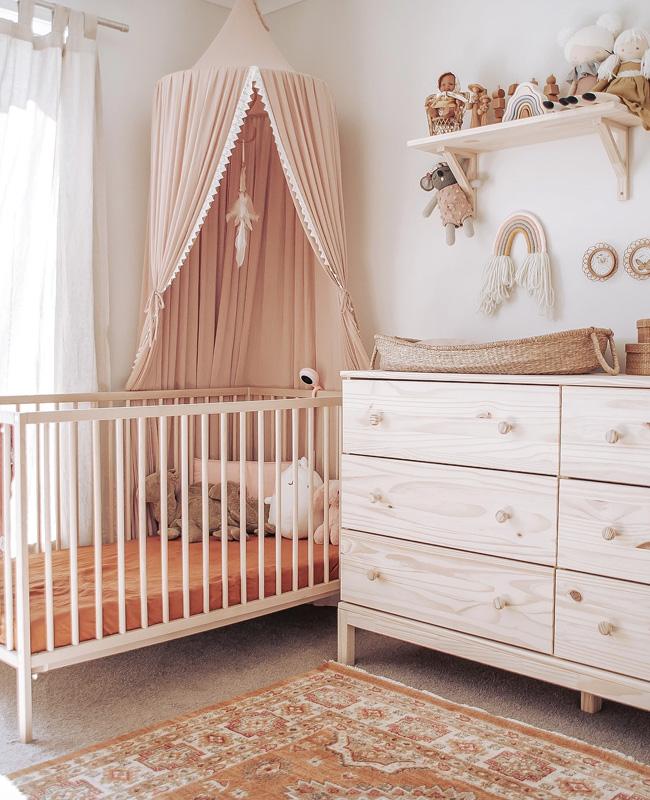 deco chambre bebe rose boheme