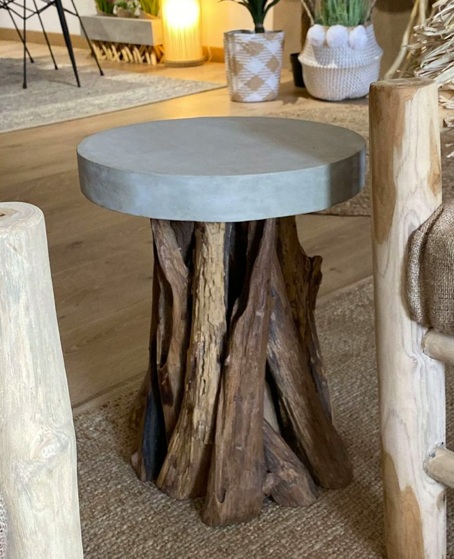 table appoint béton bois