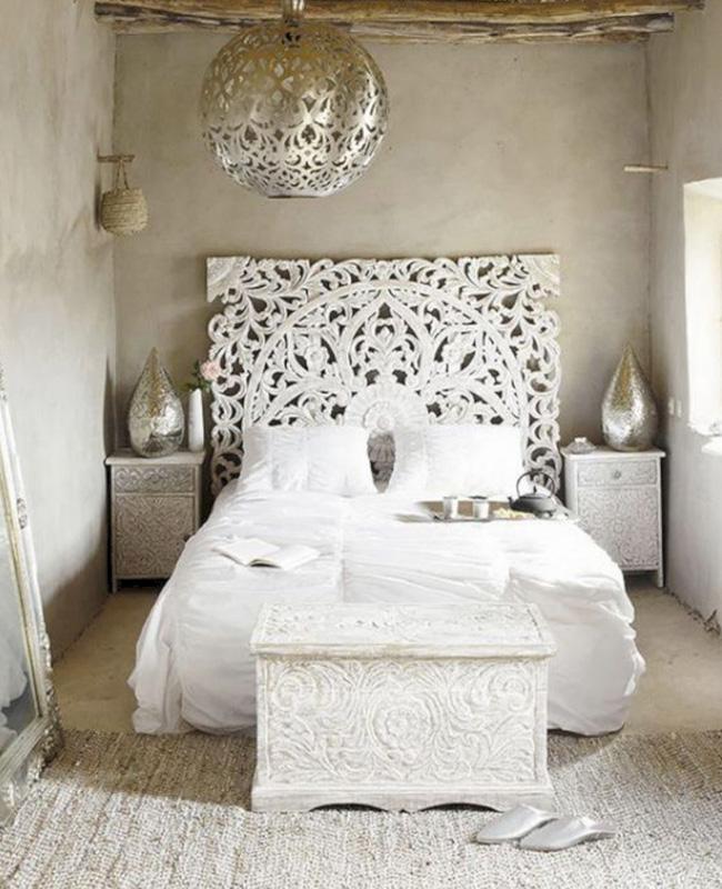 tete de lit orientale deco chambre ethnique
