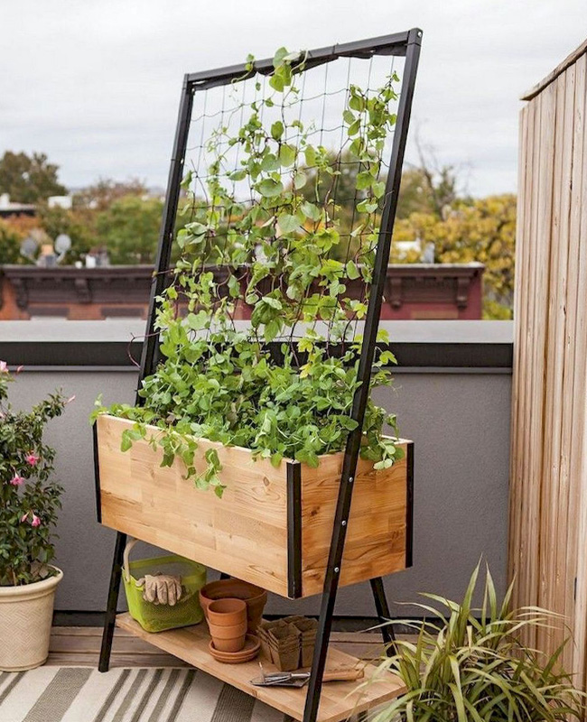 deco balcon nature jardinière verticale