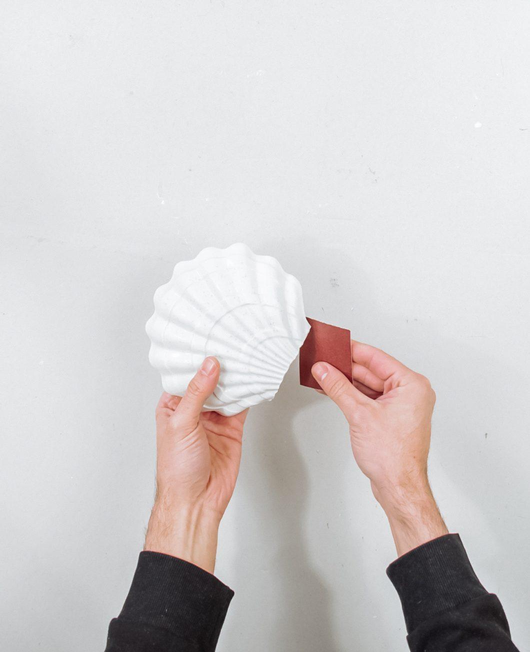 vase coquillage beton tuto diy etape 6