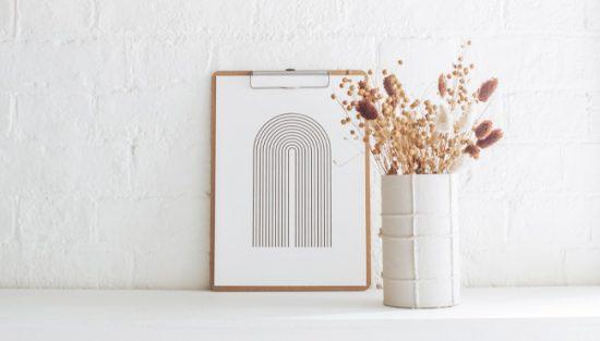 affiche arc en ciel minimaliste a imprimer