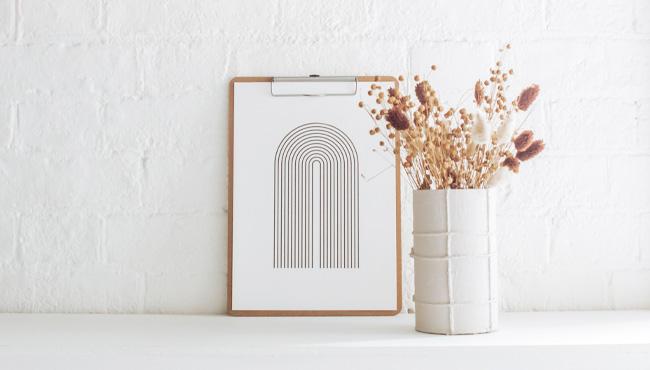affiche arc en ciel minimaliste a imprimer gratuit printable