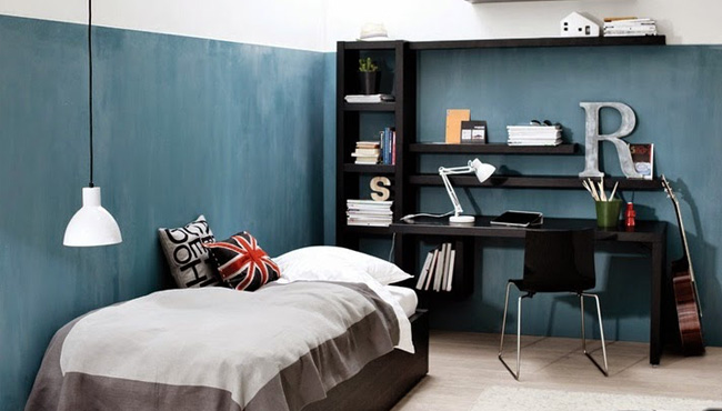 deco chambre ado bleu canard