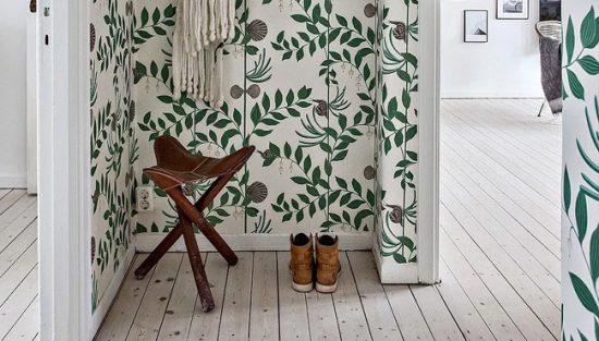 deco couloir papier peint