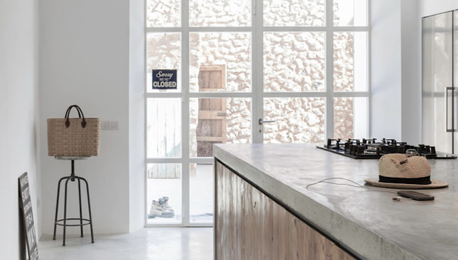 deco cuisine beton gris