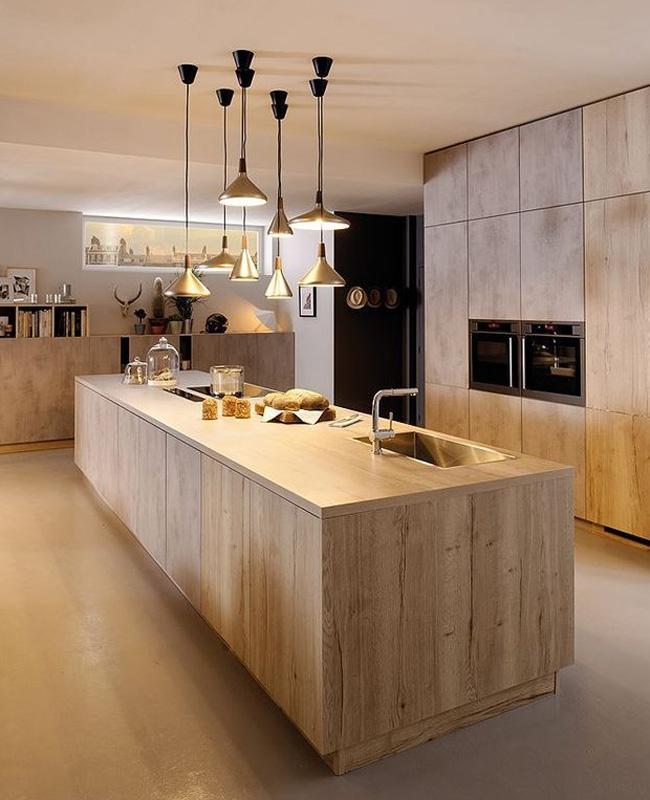 deco cuisine total look bois moderne