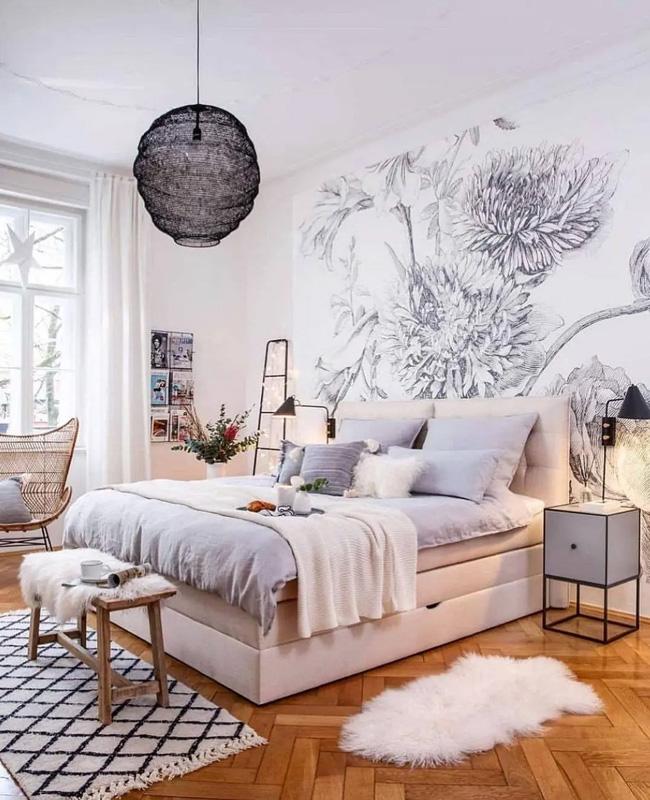 deco chambre gris blanc nature
