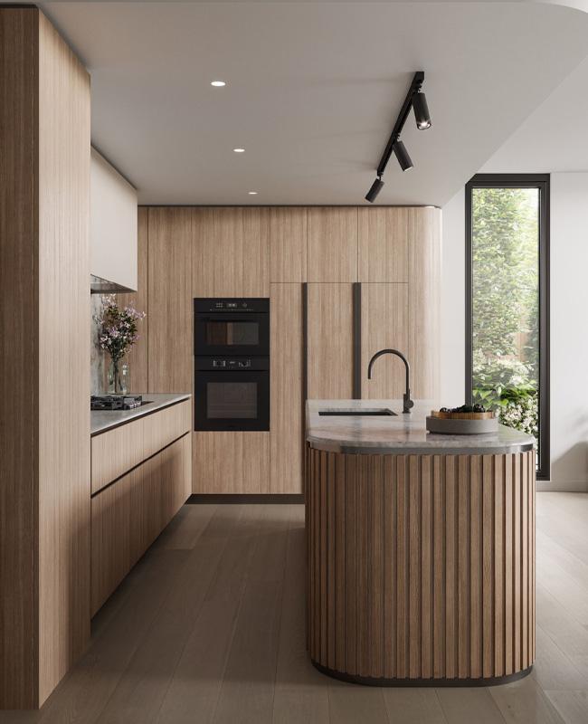 deco cuisine bois moderne