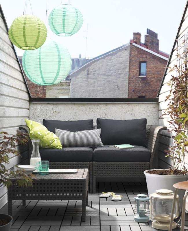 deco balcon gris moderne