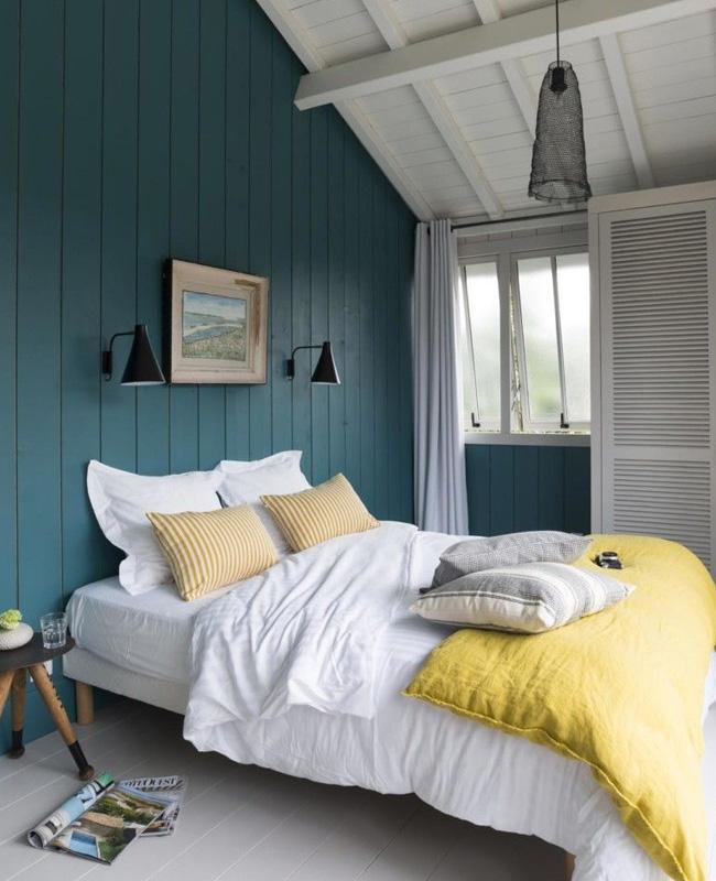 deco bord de mer moderne chambre mur bois