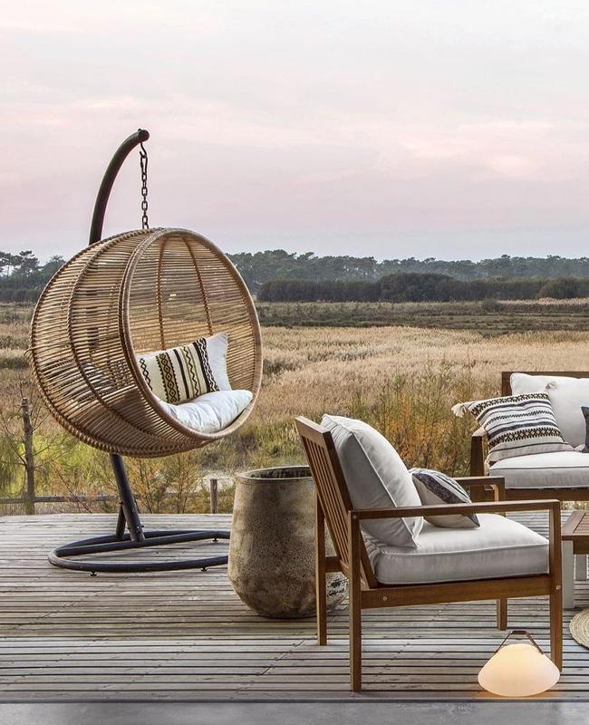 fauteuil suspendu jardin moderne