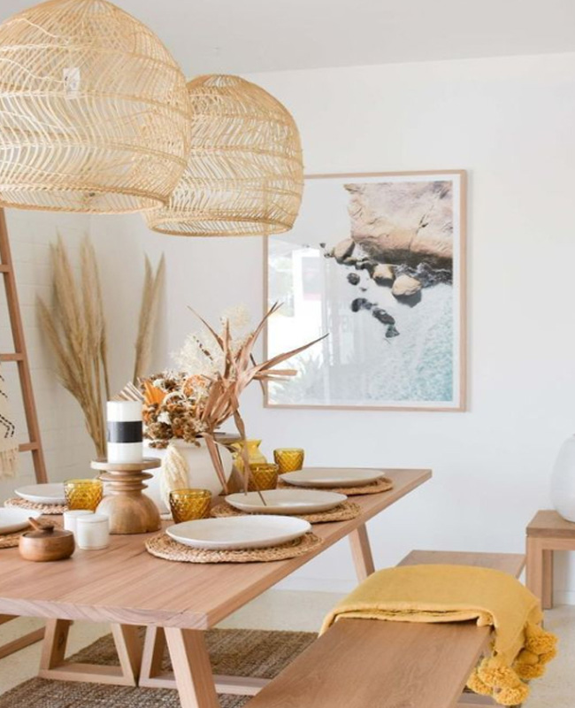 deco bord de mer moderne salle a manger bois