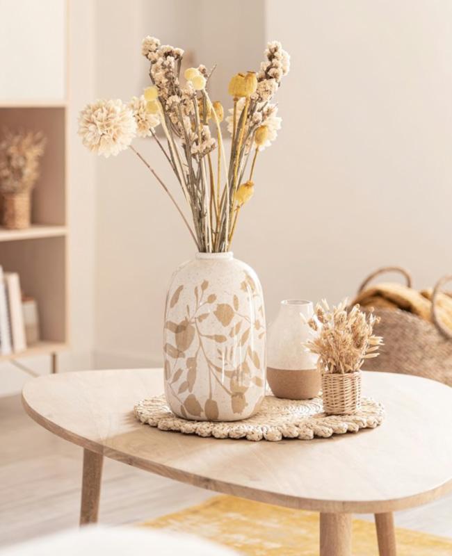 petit bouquet fleurs sechees panier