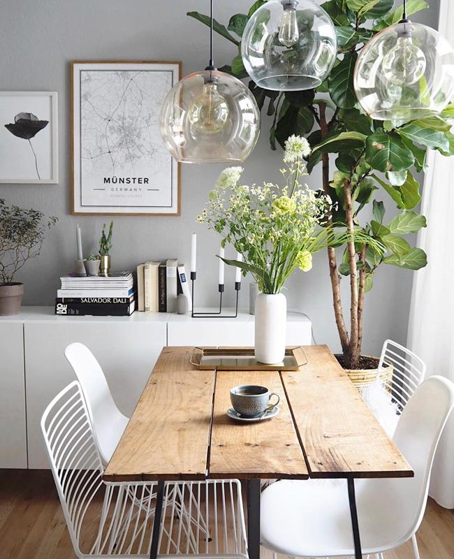 buffet blanc deco salle a manger moderne