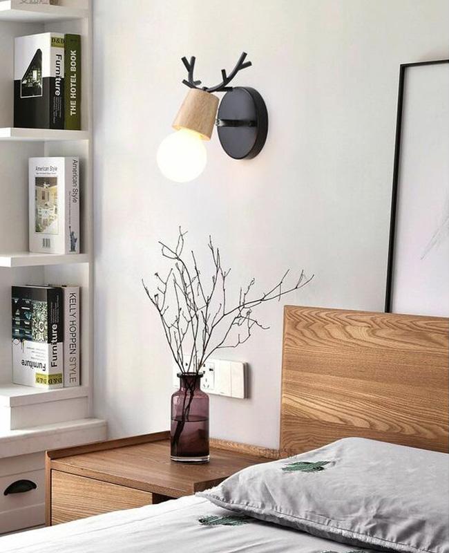 deco chambre applique murale bois