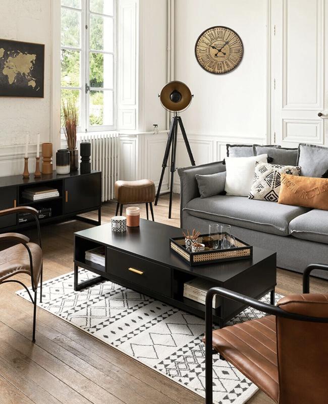 table basse tiroir deco salon moderne