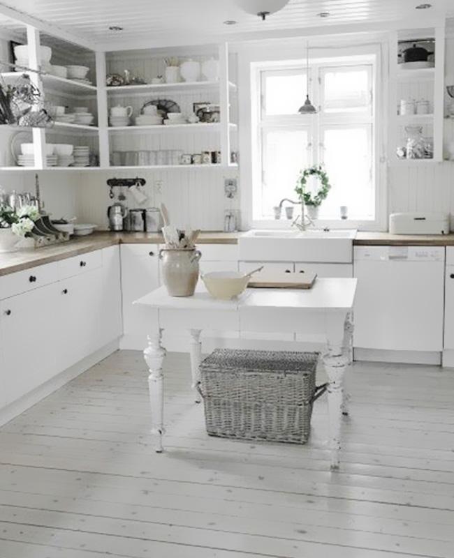 deco cuisine campagne blanc