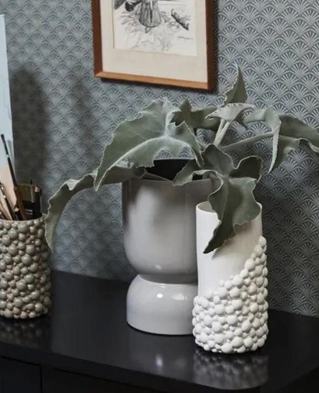 vase perle blanc