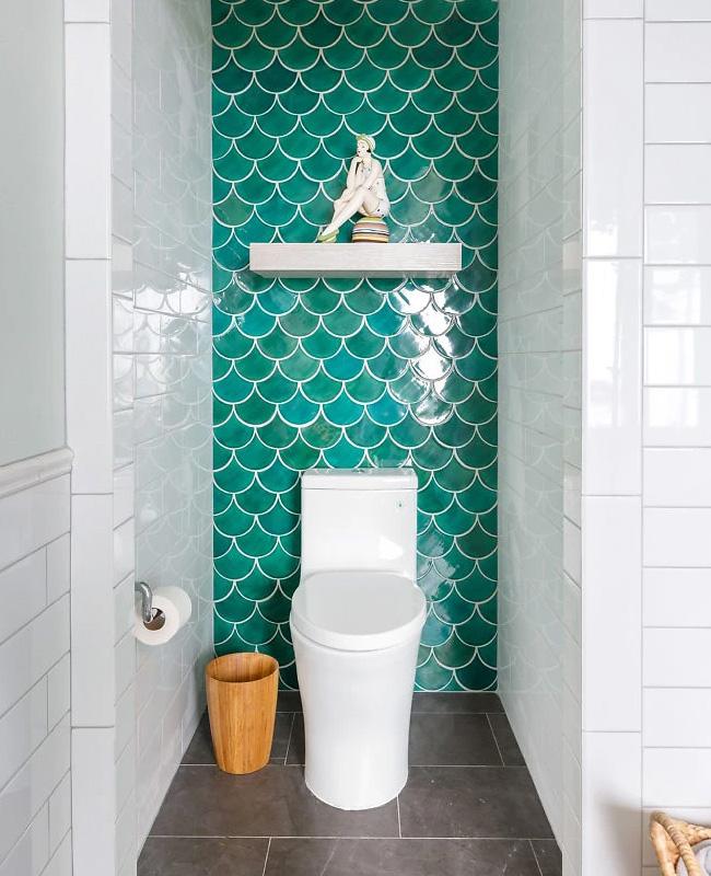 deco toilettes wc bord de mer carrelage ecaille