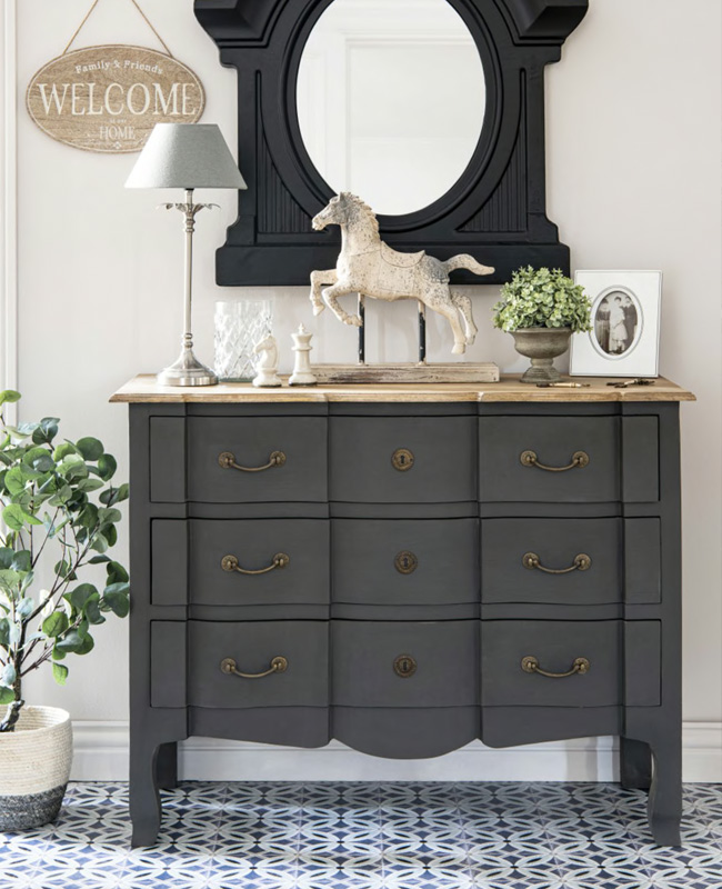 commode gris chic