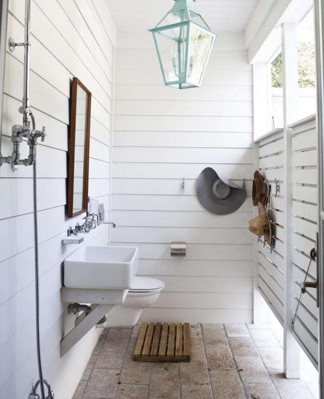 deco toilettes wc bord de mer bois blanc