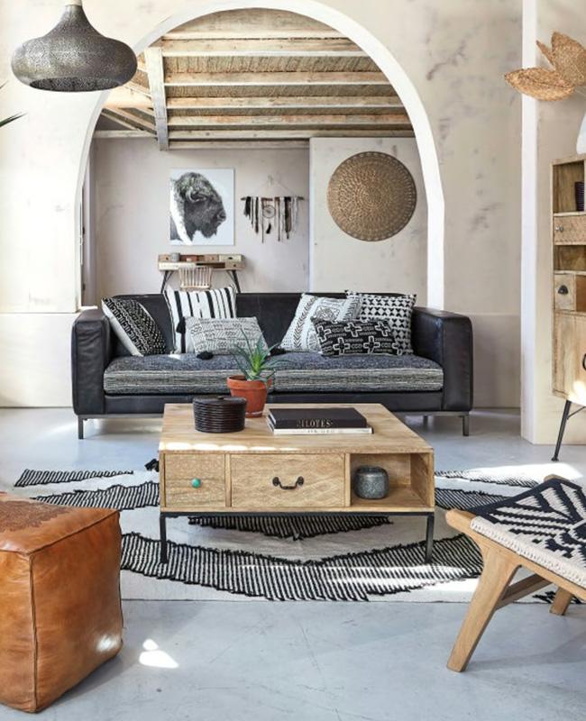 table basse carrée tiroir