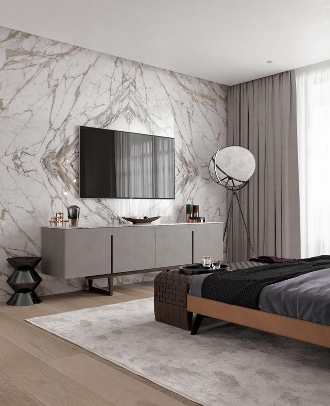 deco chambre marbre mur
