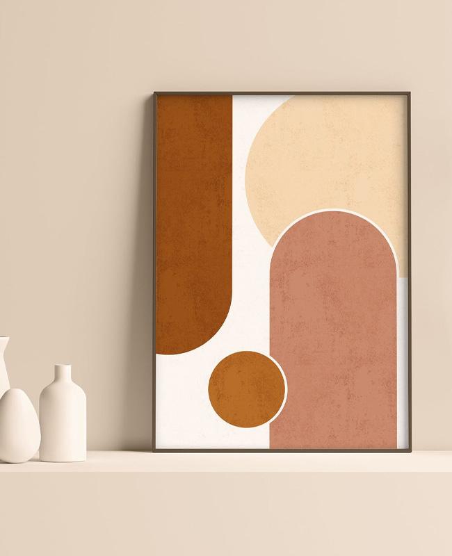 affiche abstraite terracotta a imprimer