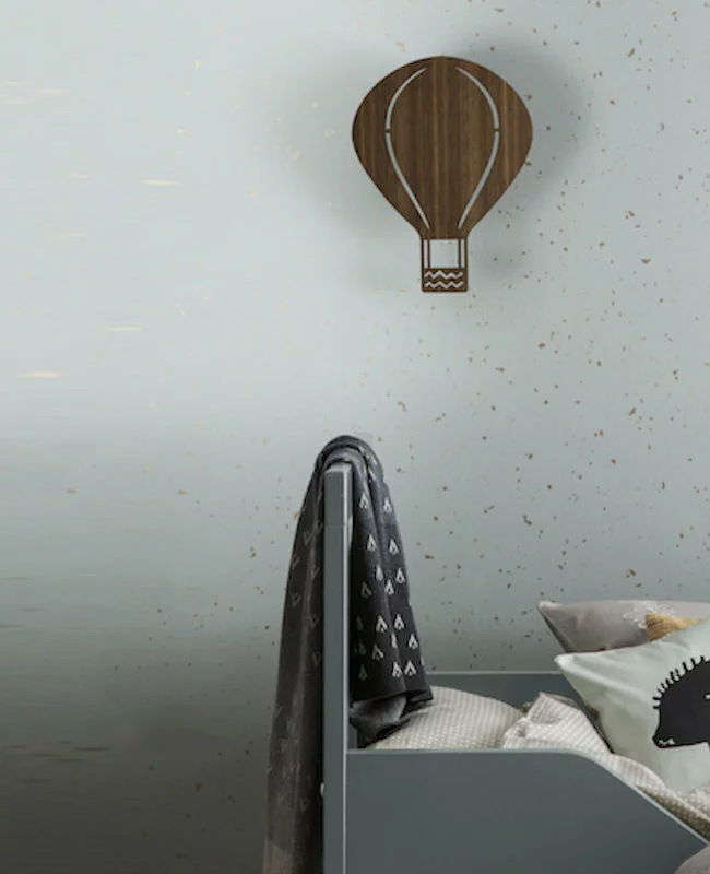 applique murale bois montgolfière