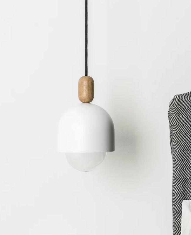 suspension blanc bois moderne