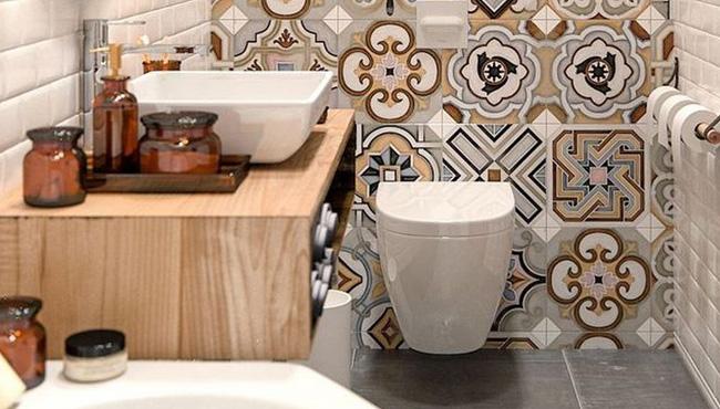 deco carreaux de ciment toilettes wc