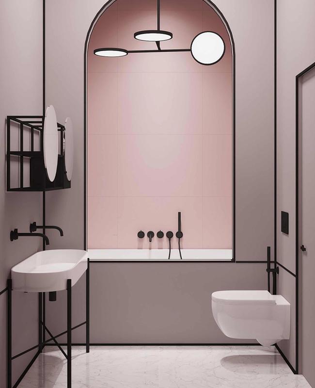 deco toilettes wc rose Art Deco