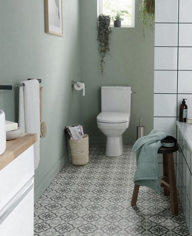 carreaux de ciment vintage sol deco toilettes wc