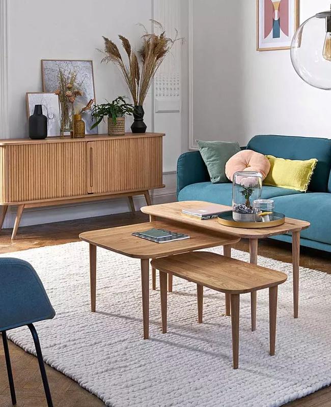 tables basses gigognes bois deco petit salon