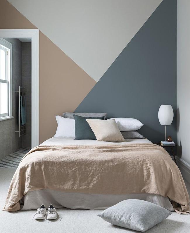 mur géométrique deco chambre ado moderne