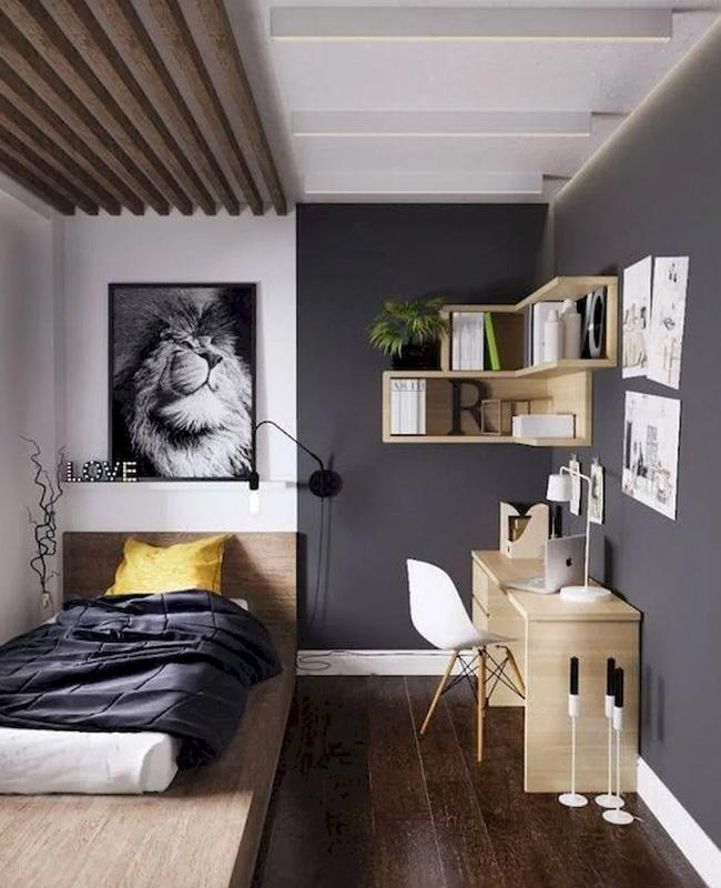 deco chambre ado moderne bois